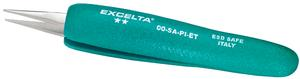 Excelta 00-SA-PI-ET 4.5inch Straight Strong Tweezer With Ergo Grips