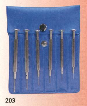 Excelta 203 6 Piece Jewelers Screwdriver Set
