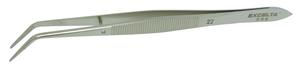 Excelta 22 5.5inch Carbon Steel Nickel Plated Broad Angled Tweezer