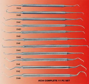 Excelta 334 11 Piece Stainless Steel Probe Kit