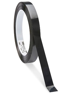 3M 1350F Black Polyester Film Tape 1/2\