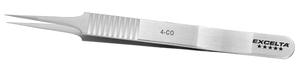 Excelta 4-CO 4.38 Inch Straight Tapered Ultra Fine Tip Forcep