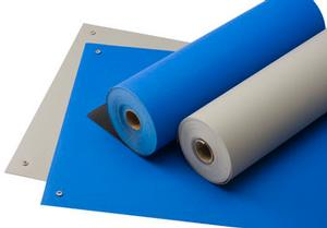 ACL 5912472 Gemini Dual Layer Royal Blue Pre-Cut ESD Mat 24in. x 72in.