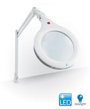 Daylight U25080 LED UltraSlim 1.75x White Magnifying Lamp XR (12W, 7in Lens, 50