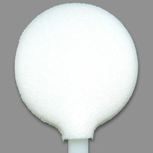 FoamTec HT1134-5 6in Large Lollipop CleanWIPE Foam Swab
