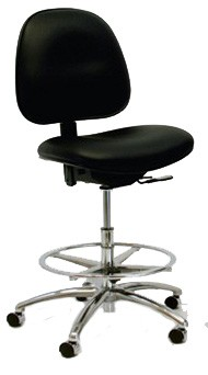 GK Stamina Cleanroom ESD Chair with Saddle Seat, Conductive Vinyl CE7 series