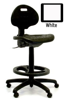 GK Harsh Environment High Bench Height Chair-White