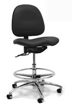 Gibo Kodama Stamina CE3 Mid-Bench Height Chair, Class 100 Cleanroom