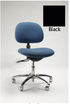 Gibo/Kodama Stamina 3000 Production Bench-Height Chair-Black