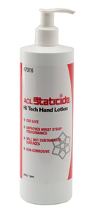 ACL 7016 Staticide Hi Tech Hand Lotion Pump Bottle 16oz.