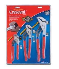 Crescent R200SET3 3 Piece Tongue and Groove Pliers Set 7inch 10inch 12inch