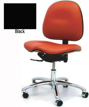 Saddle Low Bench Height Chair-GK Black Vinyl-