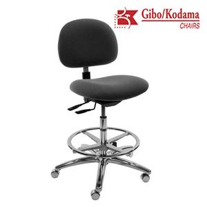 Stamina 3000 ESD Mid Bench Charcoal Chair