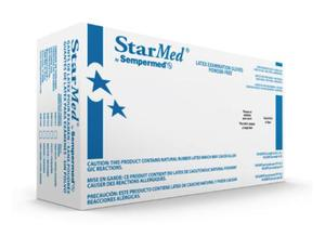 Sempermed-SM101-StarMed-XS (Extra Small)-White Latex Powder-Free-Exam Grade Gloves