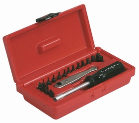Xcelite XL70 19 Piece Midget Ratchet Offset Screwdriver Set
