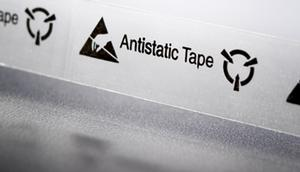 ESP-1000, 1 Inch ESD Safe Printed Cellulose Tape.