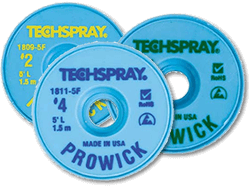 Techspray 1803-100F Pro Wick Desolder Braid - 100\' #3 Green