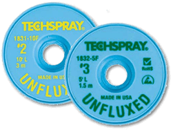 Techspray 1832-5F Unfluxed Desolder Braid - 5\' Green #3